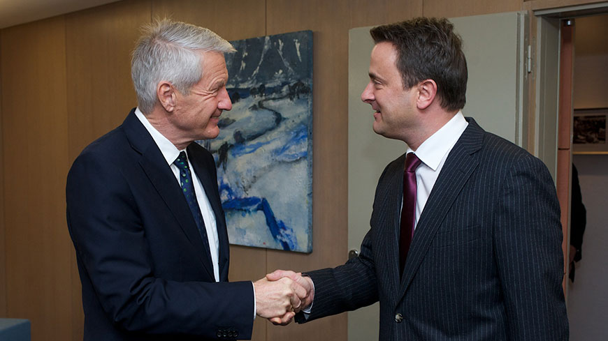 Secretary General meets Prime Minister of Luxembourg
