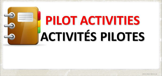 Priorities for pilot activities 2015
