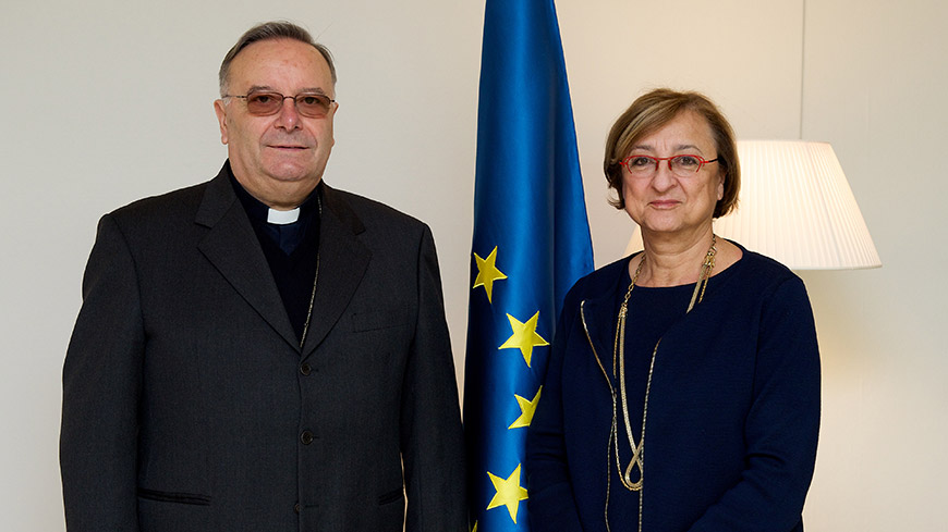 Migrations in Europe: Deputy Secretary General meets Cardinal Montenegro