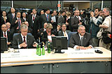 From left to left: Terry Davis, Secretary General, Marek Belka, Prime Minister of Poland and Aleksander Kwasniewski, President of Poland