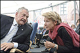 Terry Davis, Council of Europe Secretary General and Maud de Boer-Buquicchio, Council of Europe Deputy Secretary General