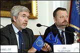 Jan Truszczynski, Deputy Minister of Foreign Affairs of Poland (left) and Wojciech Tygielski, Vice-Rector of Warsaw University