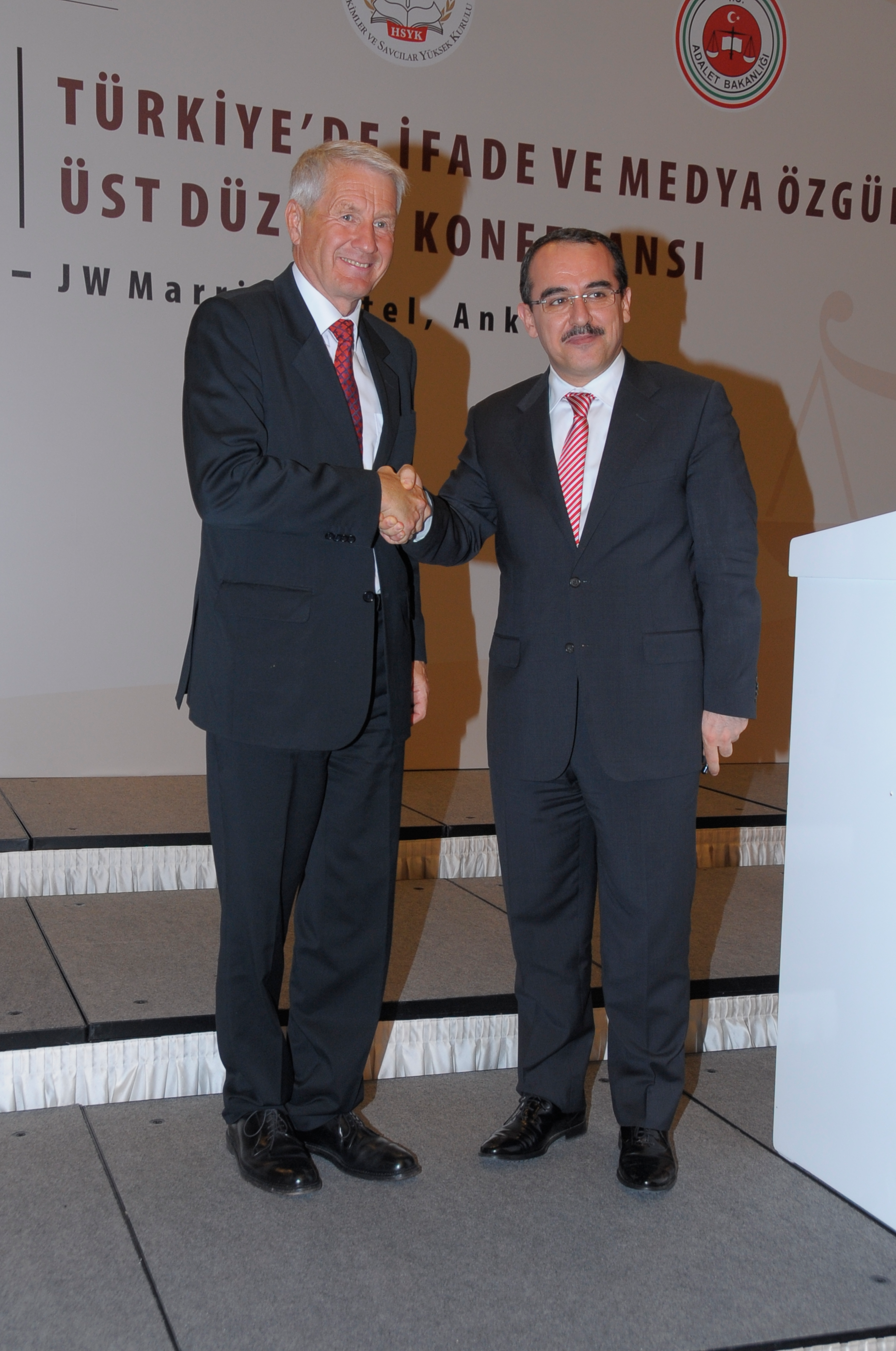 Thorbjørn Jagland and Sadullah Ergin
